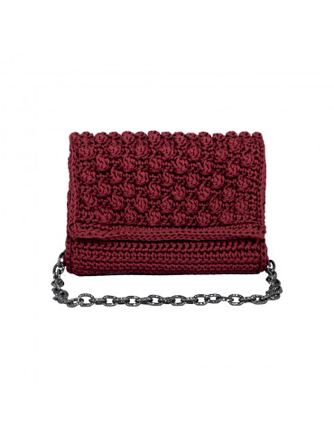 Handmade Knitted Bordeaux Bag