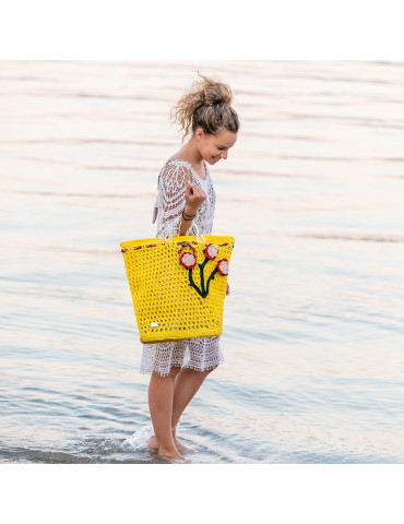 Handmade Beach Bag with...