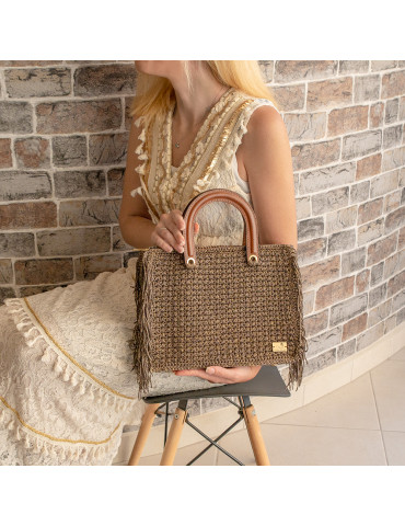 Handmade Knitted Bag With...