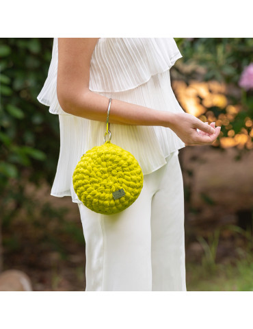 Handmade Knitted Round Bag...