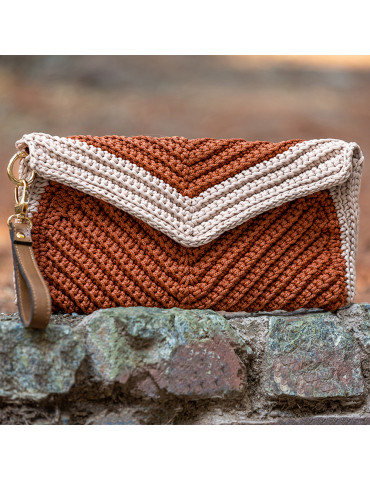Handmade Knitted Envelope Bag