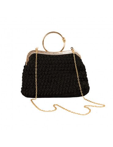 Handmade Black Bag with a...